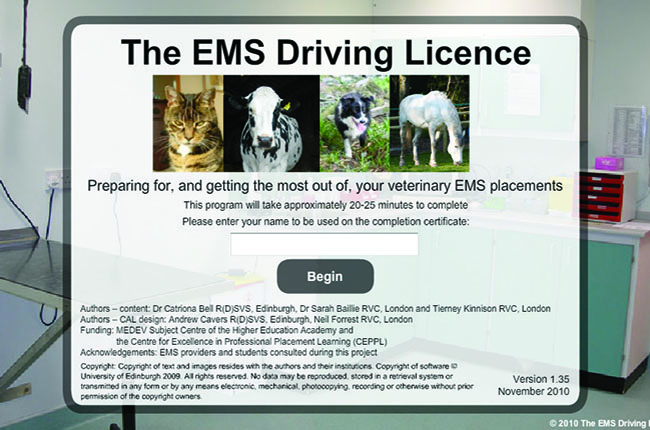 Online tool helps students prepare for EMS | Vet Record Careers