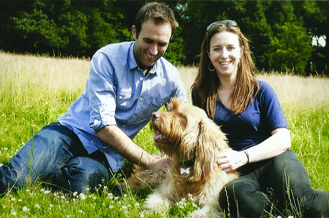Julie Ross with her husband and dog, Oscar