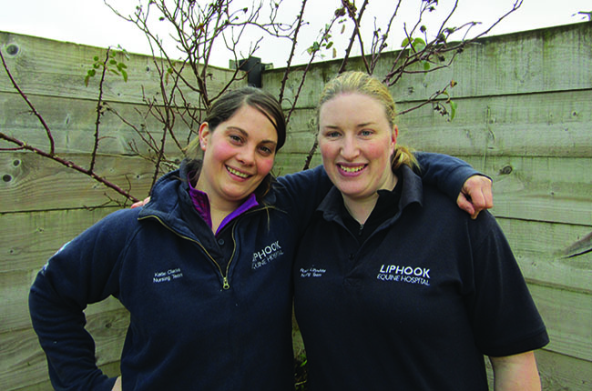 Rosina Lillywhite and Katie Clarke vet nurses